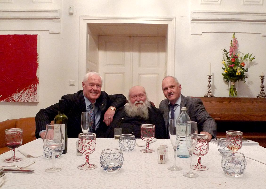 G.M., Hermann Nitsch and Vincent Polakovič