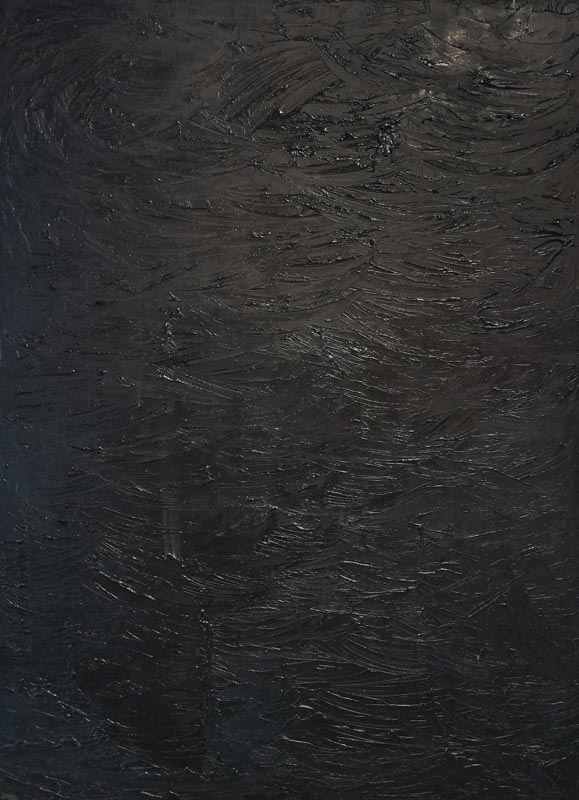 Stano Bubán (SK) – The Deep - Another kind of black | 1998 | oil of canvas