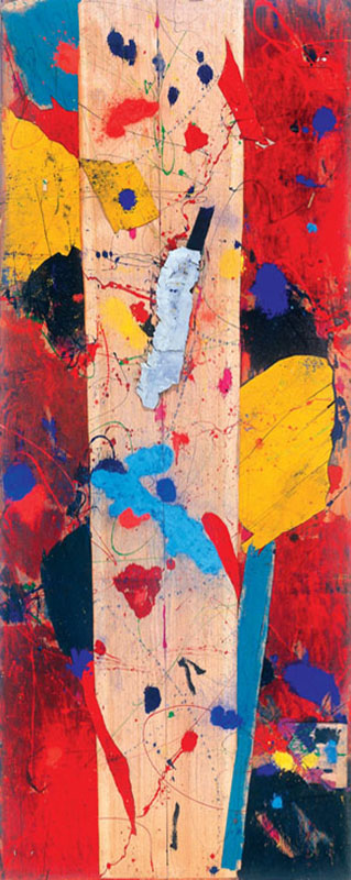 Sam Francis (USA) – Untitled | 1983 | mixed media on wood | 205 x 81 cm
