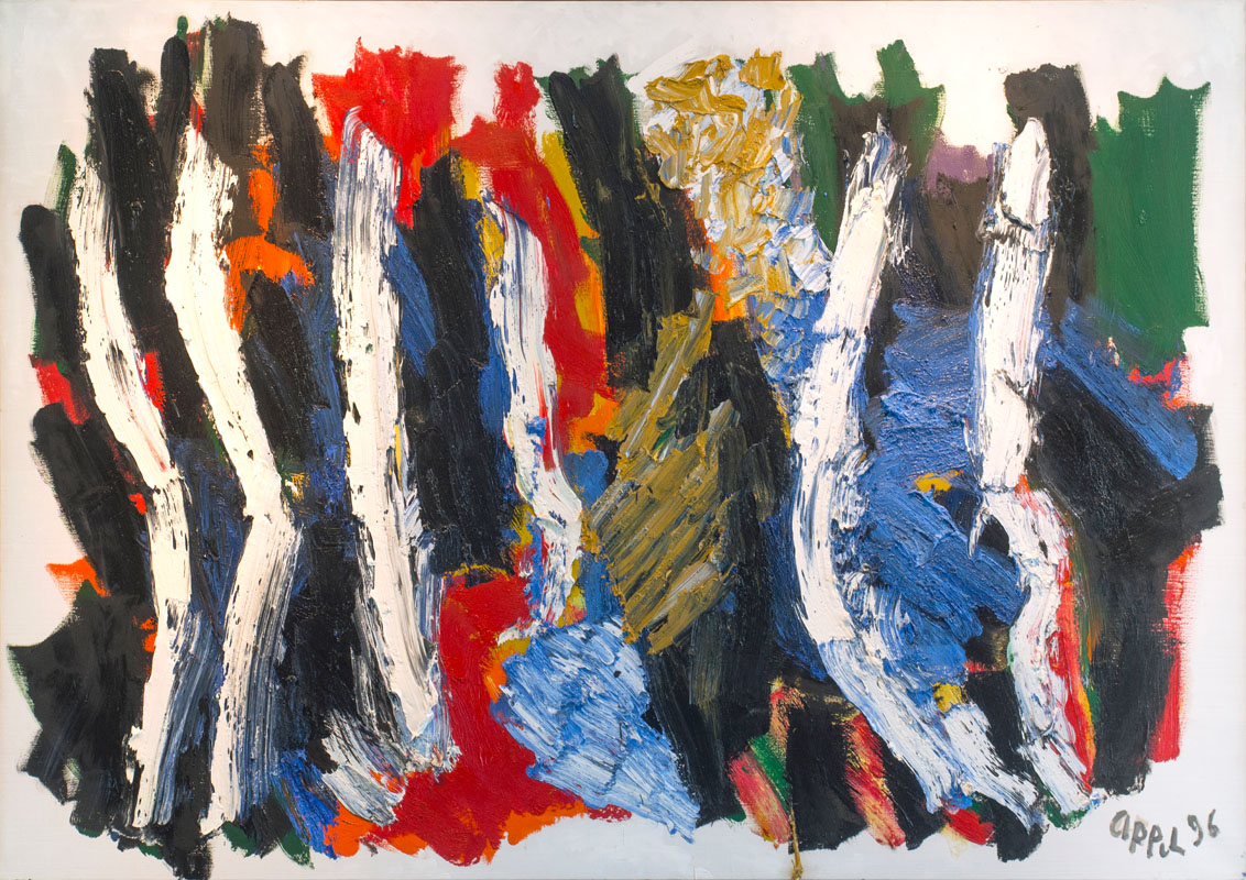 Karel Appel (NL) – Birth of Landscape | 1996 | oil on canvas | 140 x 200 cm